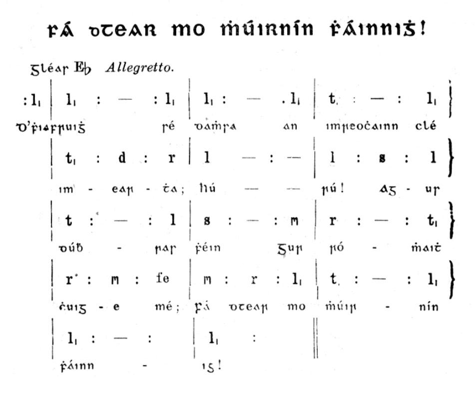 Fá dTear mo Mhuirnín Fháinnigh