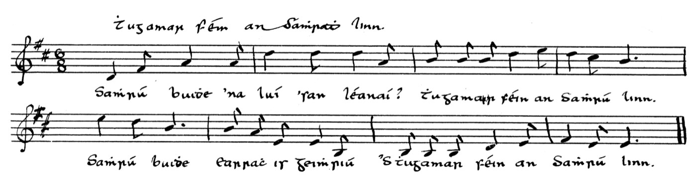 Thugamar féin an Samhradh Linn: Luke Donnellan Box 2, 26/4 from Mick McKeown Lough Ross, transcribed by Séamus Ennis