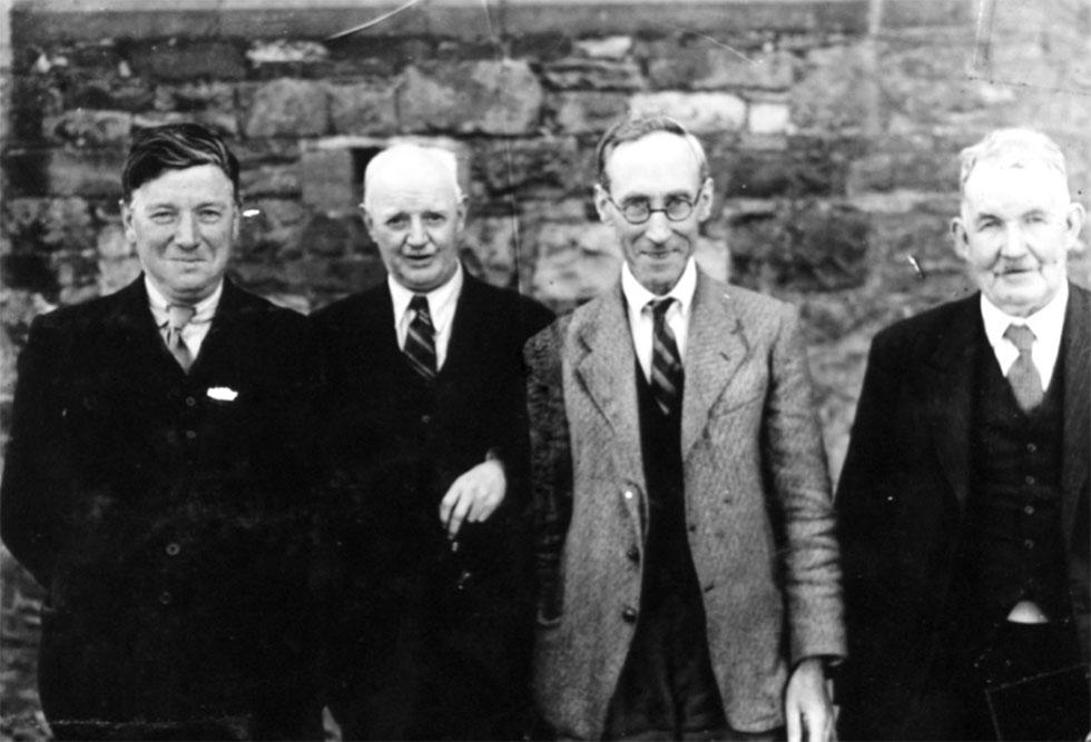 Tommy Hollywood, Frank McNeice, Peadar Ó Dubhda and Thomas Traynor